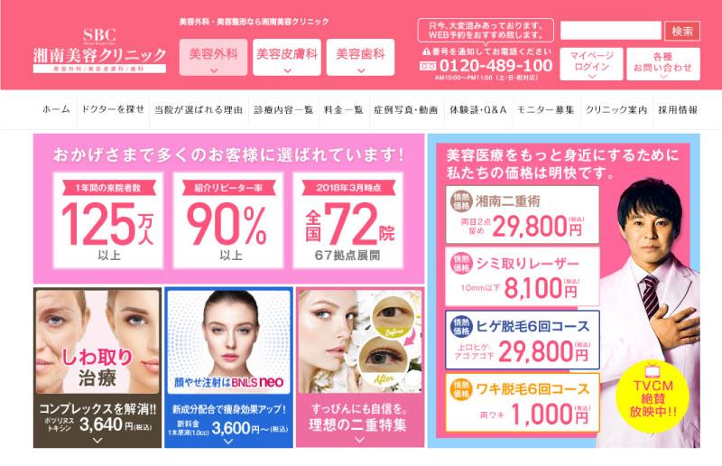 湘南美容外科の全身脱毛料金と医療脱毛の効果のイメージ
